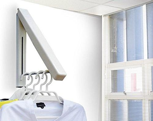 Laundry - Clothes Wall Mounted Clothes Drying Rack| Organization Space Living Easy Installation Beige