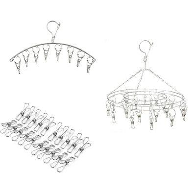 Hanging Clothes Drying Rack Laundry Stainless Steel Metal Ha