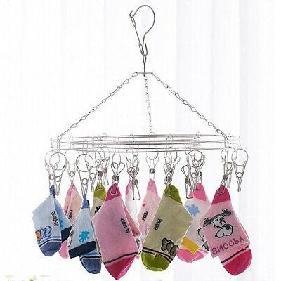hanging clothes drying rack laundry stainless steel
