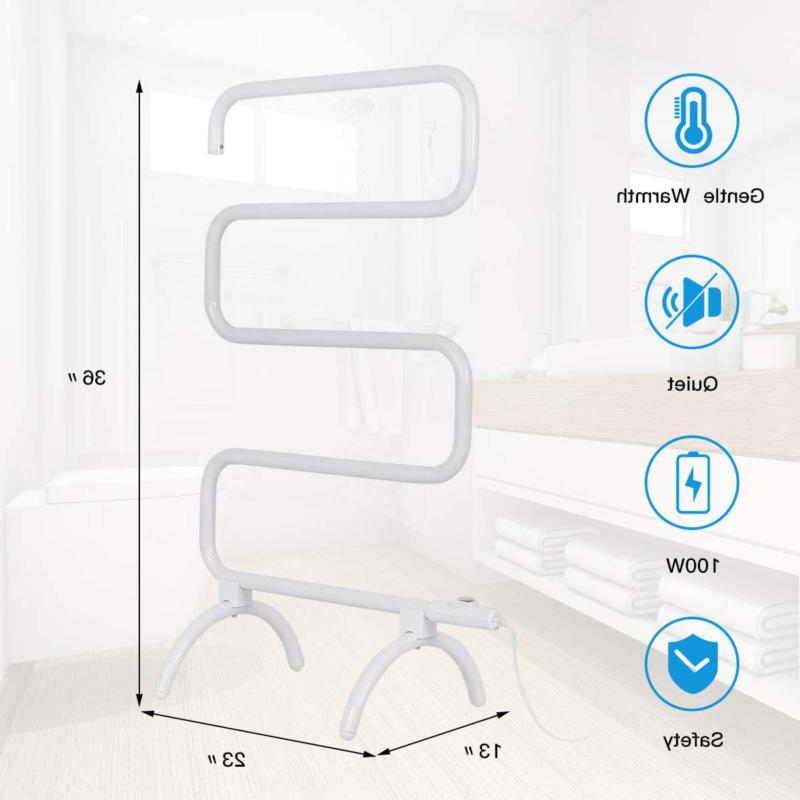 Heated Drying Rack Hang Clothes Mount