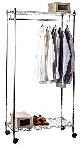 heavy duty rolling garment rack