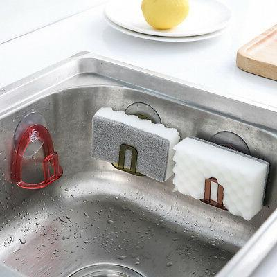 Holder Suction Soap Storage Scrubbers Sink