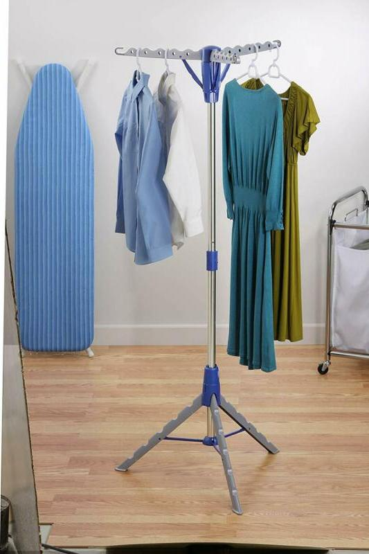tripod clothes drying folding rack hanger laundry