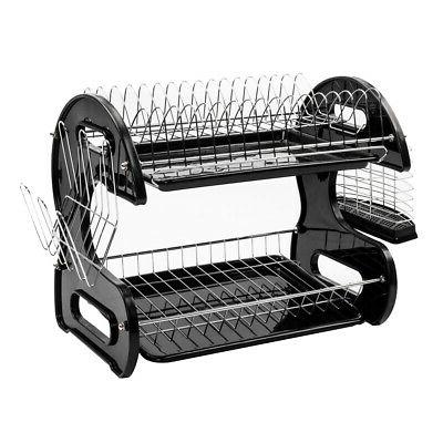 hot kitchen dish cup drying rack drainer
