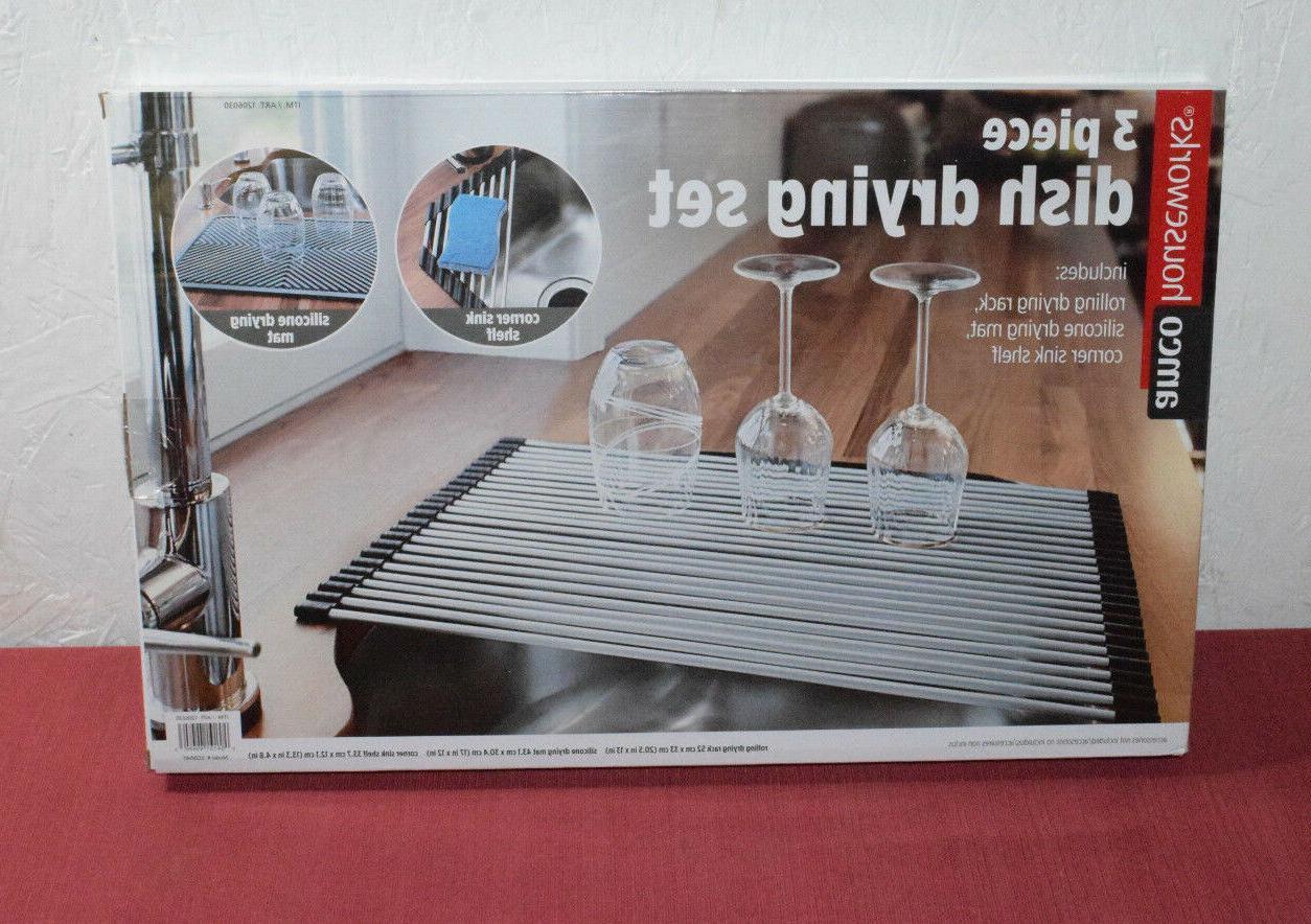 houseworks 3 piece dish drying rack set