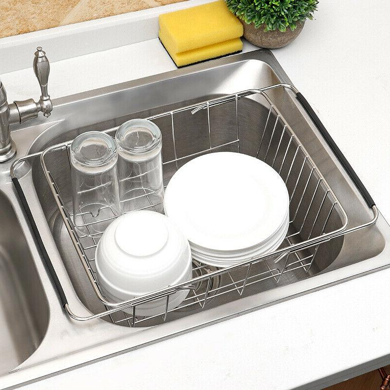 in sink dish drying rack drainer over