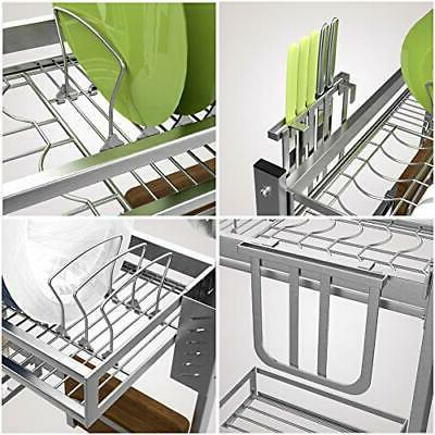 istBoom Dish Drying Rack, Stainless Over the Sink Dish