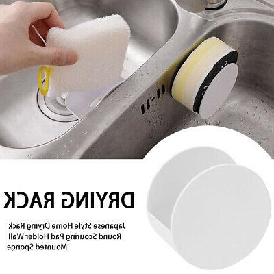 Japanese Style Home Drying Rack Round Scouring Pad Holder Wa