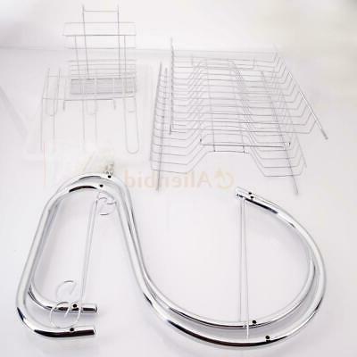 Kitchen Cup Rack Holder Drainer 2-Tier Dryer