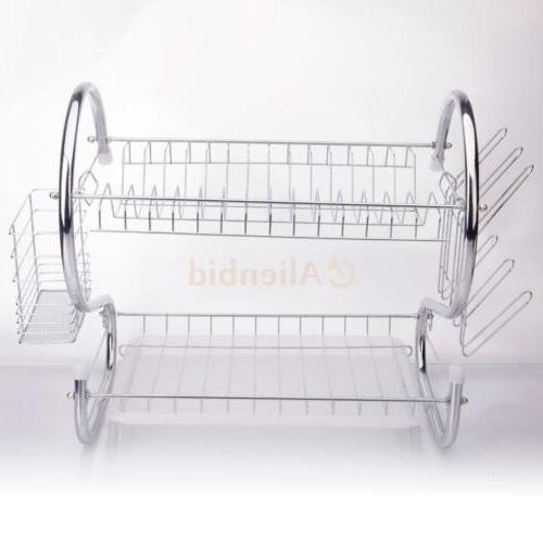 Kitchen Drying Rack 2-Tier Dryer Stainless Steel