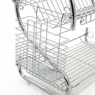Kitchen Dish Cup Drying Rack 2-Tier