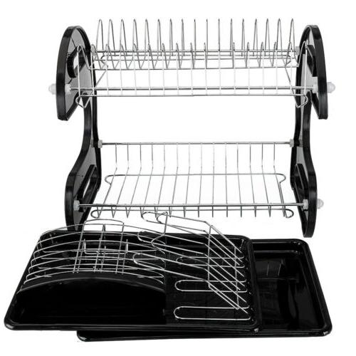 kitchen storage rack dish cup dryer drying