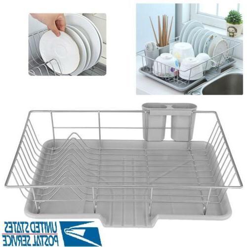 kitchen dish drying rack drainer dryer tray