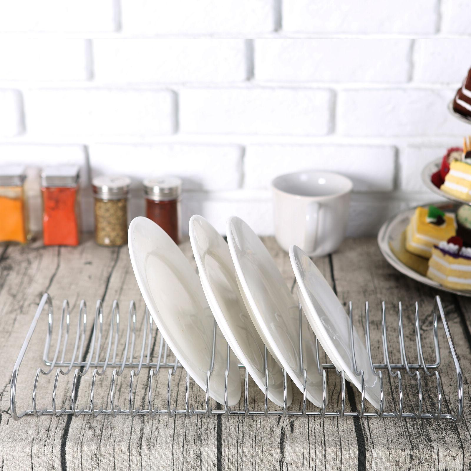 Kitchen Dish Organizer Rack, Chrome-Plated
