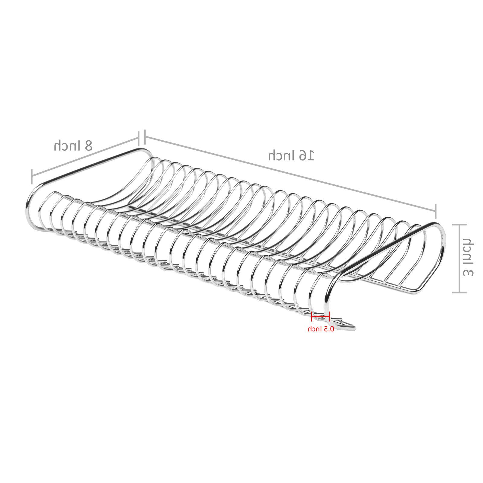 Kitchen Plate Organizer and Drying Rack, Chrome-Plated