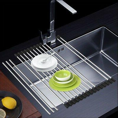 Stainless Dish Drying Rack Over the Space Save