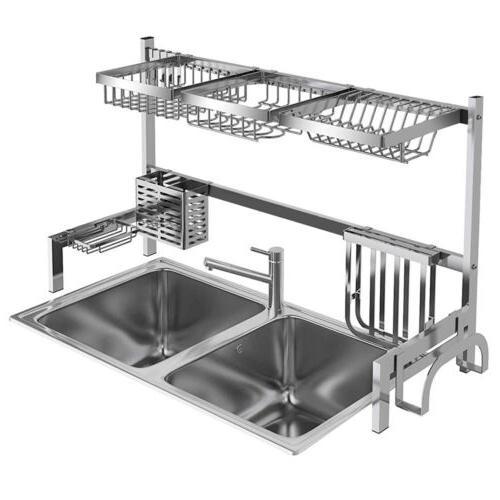 Kitchen Dish Rack 304 Stainless Steel Drainer Holder Shelf