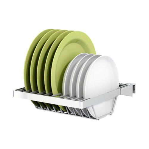 Kitchen Dish Stainless Steel Drainer Holder Shelf