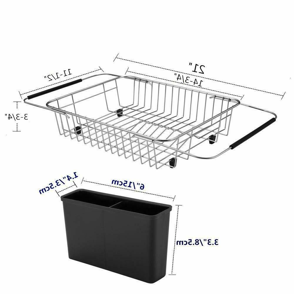 Kitchen The Expandable Dish Rack Adjustable Drainer