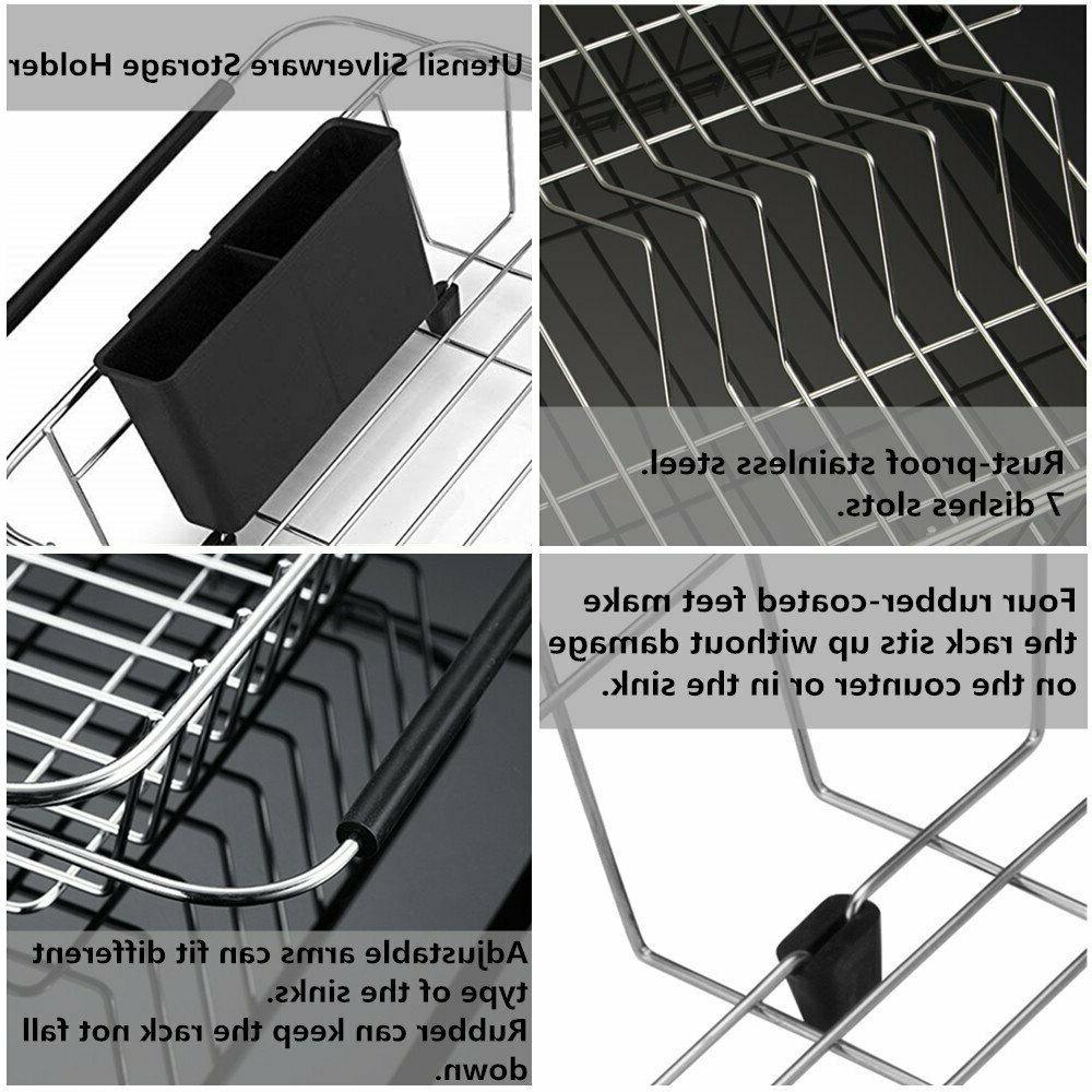 Kitchen Expandable Dish Adjustable Dish Drainer