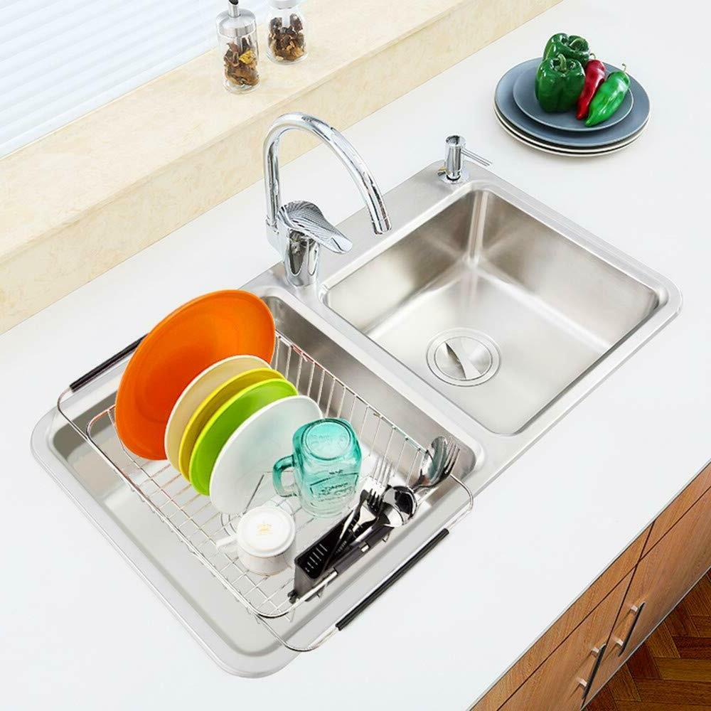 Kitchen Over Sink Expandable Dish Adjustable Arms