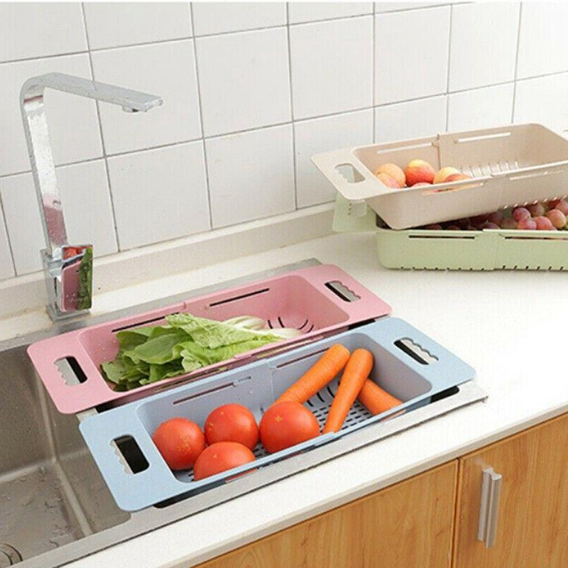 Kitchen Plastic Sink Rack Drainer Multifunction Dish Cutlery