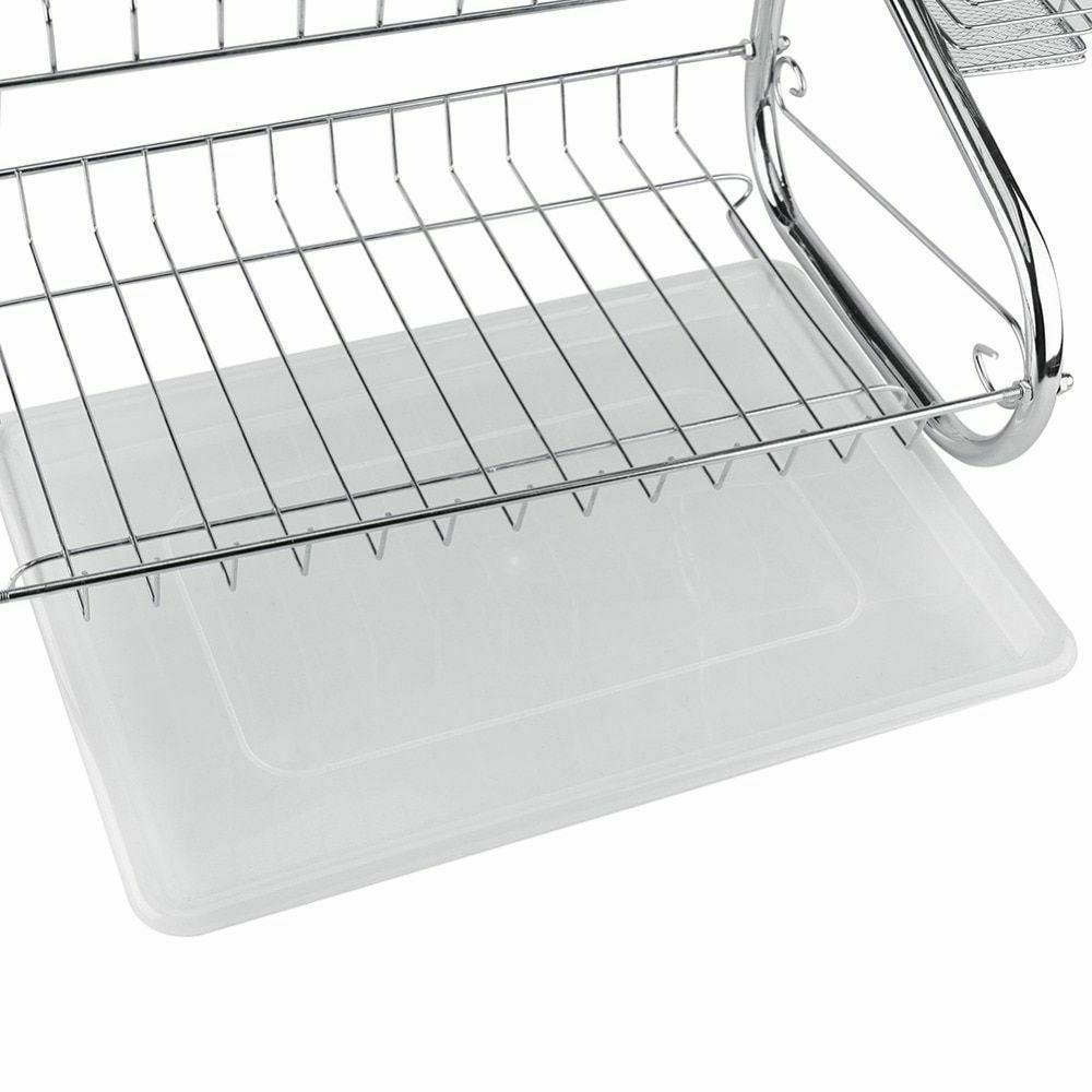 Kitchen Storage Organizer Dish Sink Holder Tray