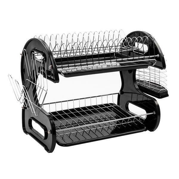 Kitchen Storage Dish Drying Rack Holder Sink Drainer Dryer