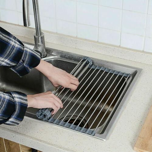 "Large 20.5"" Sink Dish Rack Steel"