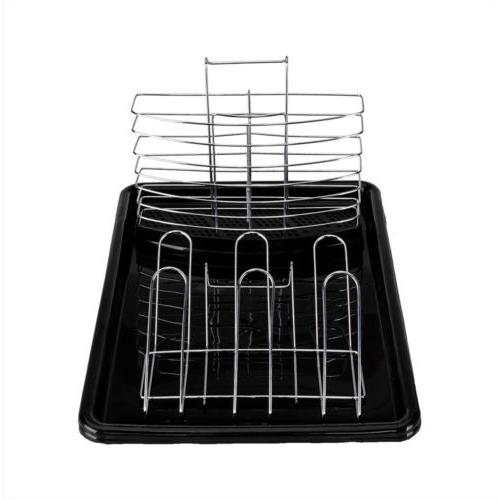 Large Capacity 2 Dish Drainer Rack Kitchen Storage