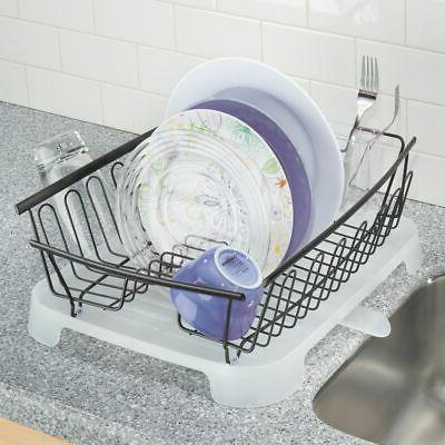 mDesign Dish Rack and Drainboard