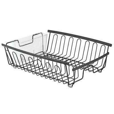 mDesign Large Dish Rack and Drainboard Swivel