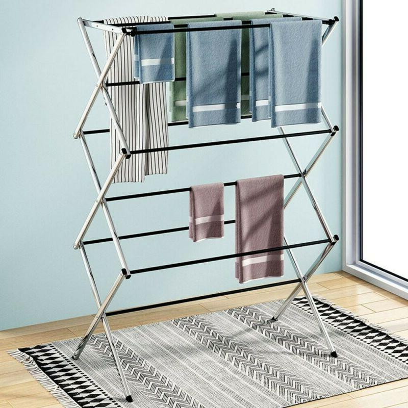 large folding laundry drying rack portable foldable