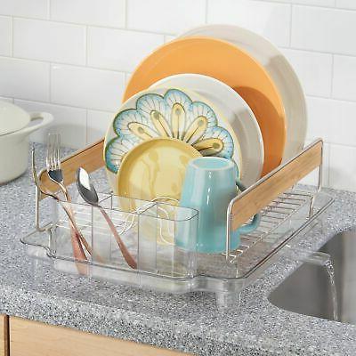 mDesign Dish Rack with Swivel