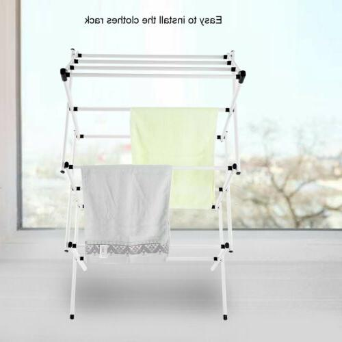 Movable Rack Clothes Hanger Airer