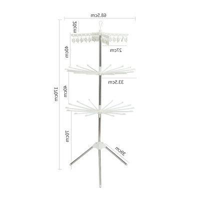 3 Tiers Laundry Folding Drying Rack Clothes Dryer Hanger Stand Durable
