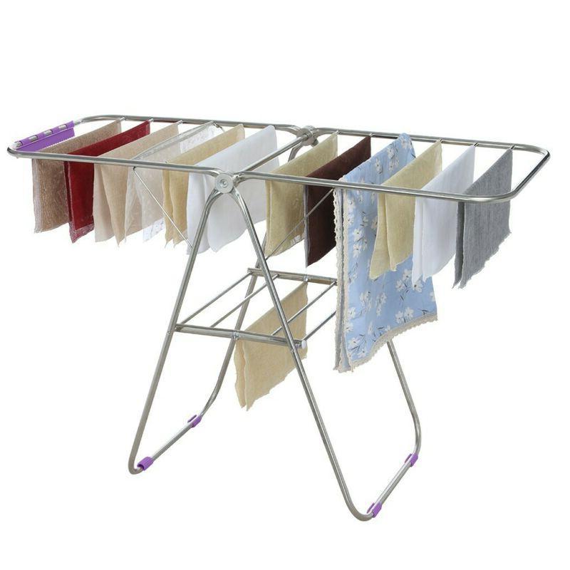 Laundry Clothes Rack Portable Folding Hange