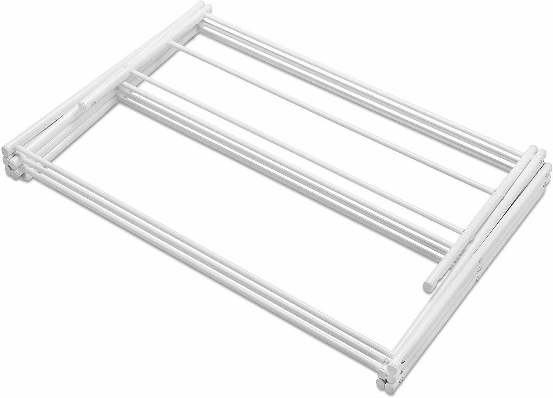 Whitmor Lightweight Steel Drying Rack, Bars, White