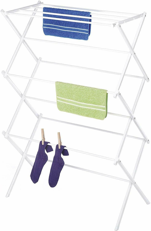 Whitmor Lightweight Drying Rack, Hanging Bars,