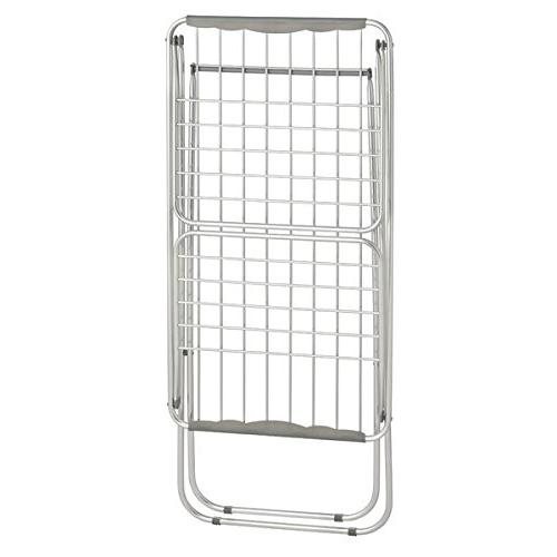 """mDesign Expandable Drying with Collapsible Clothes Rack Accordion Drying Rack Up 68.3"""" Folding Laundry Rooms Silver/Gray"""