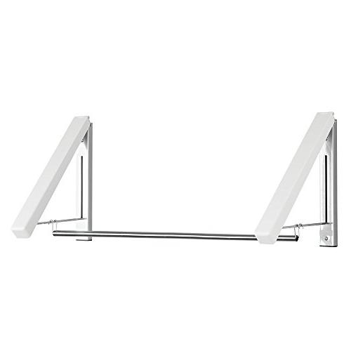 mDesign Wall Metal and Clothes Holder Organizer for Laundry Bathroom or