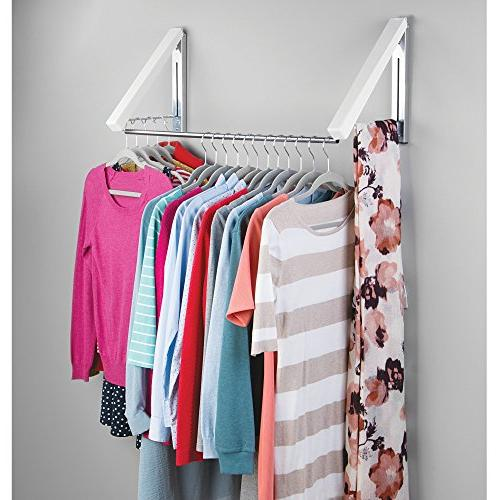 mDesign Wall Mounted and Plastic Clothes Holder Storage Organizer for Bathroom or