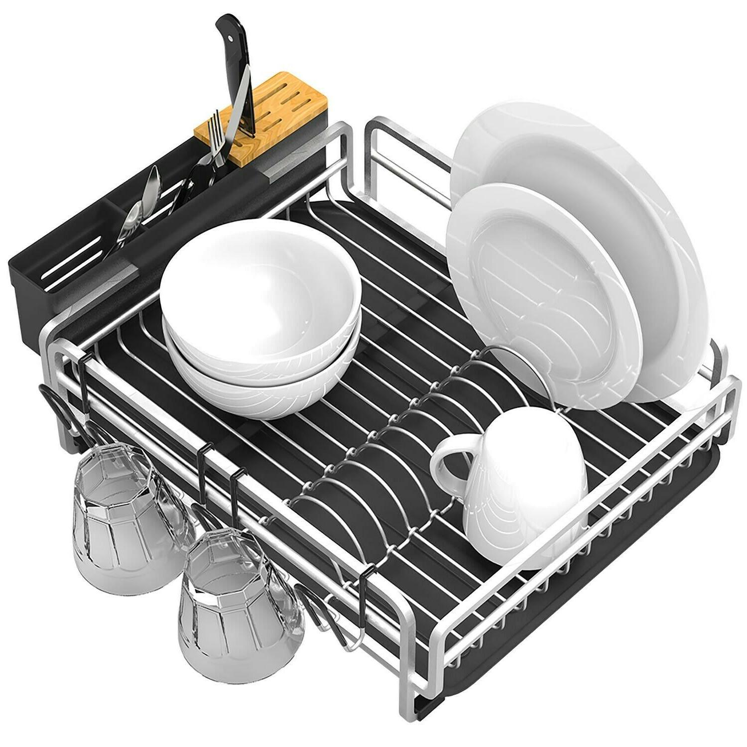 Aluminum Proof Drying w/ Drainboard for Countertop