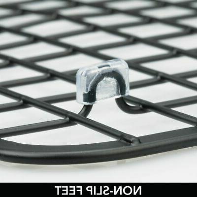 mDesign Metal Kitchen Mat,