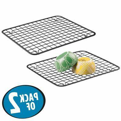 mDesign Metal Dish Mat,
