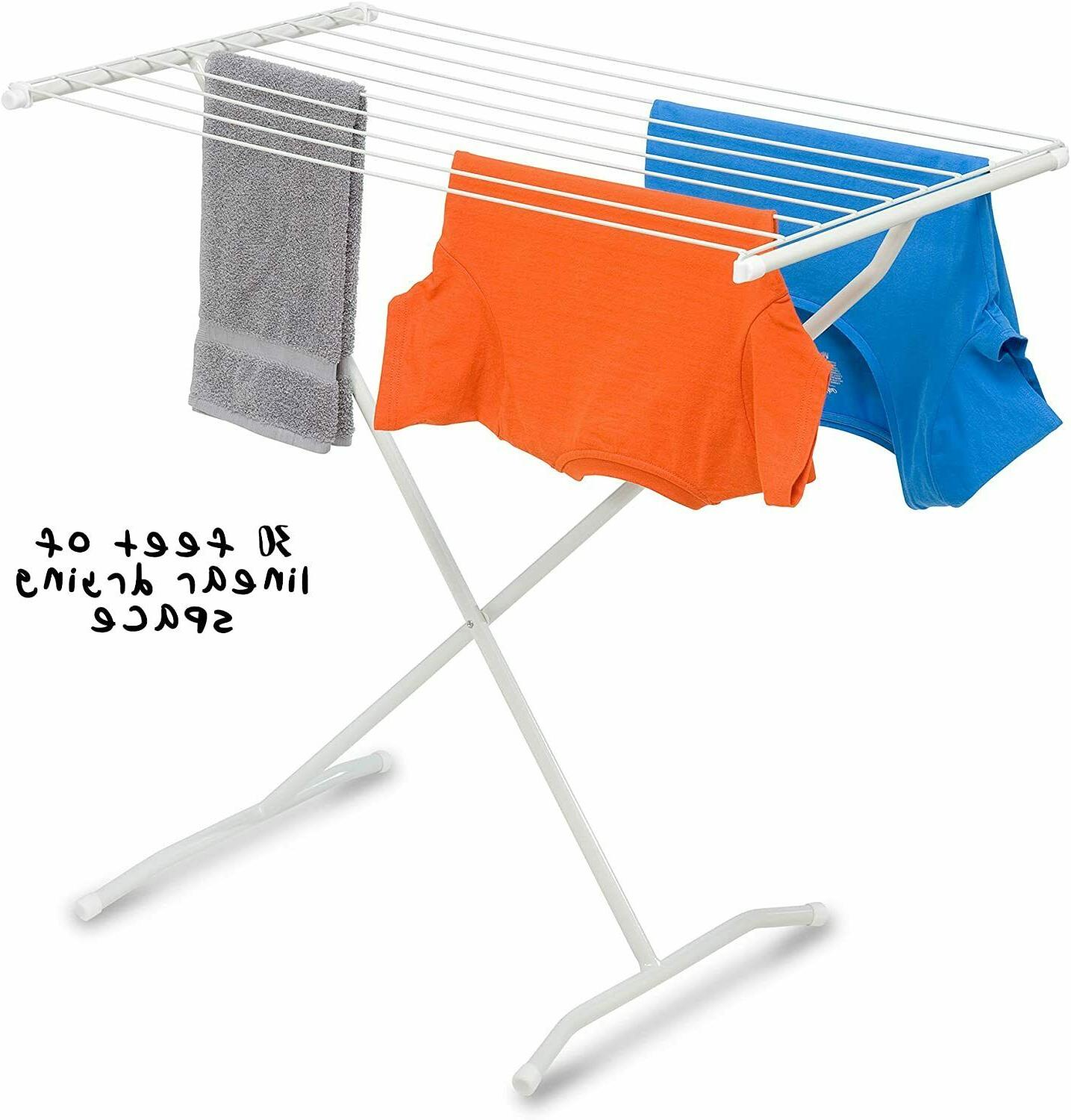 folding laundry drying rack clothes portable large