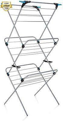 Minky Homecare 3 Tier Plus Drying Rack 49 Silver c37b4e