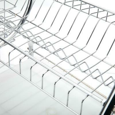 Multi-function 2-Tier Stainless Steel Dish Drying Storage
