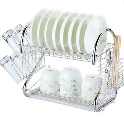 multi function 2 tier stainless steel dish