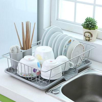 Metal Kitchen Dish Plate Drainer Drying Rack Drainer Dryer T